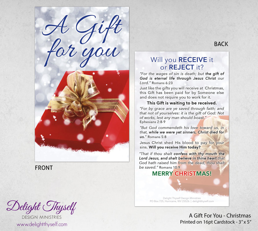 Christmas Gospel Tracts.Christmas Delight Thyself Design Ministries
